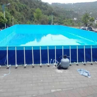 心悦夏季成人支架水池加厚PVC+钢管游泳池厂家