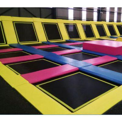 网红蹦床公园 儿童游乐场设备 成人运动室内跳床 大型超级蹦床设计厂家凯特乐