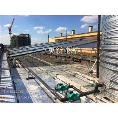 盐城滨海尚莱特医药公司10吨太阳能加电辅热水系统工程