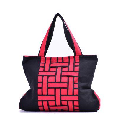 美伊工艺品牌B188帆布女士单肩包 时尚编织休闲女包民族工艺布包 分销一件代发