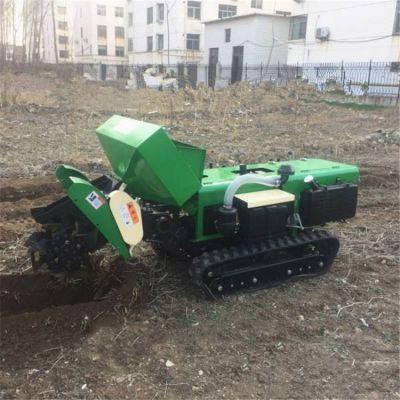 柴油旋耕管理机 简便操作的小型履带式开沟机