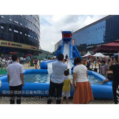 哈尔滨游乐园成人儿童嬉水可拆装充气水滑梯二手