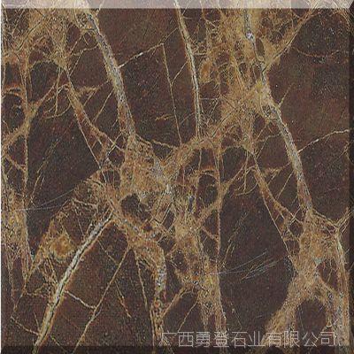 家用建筑石材 深啡网图案客厅厨房大理石 现货批发优质天然大理石