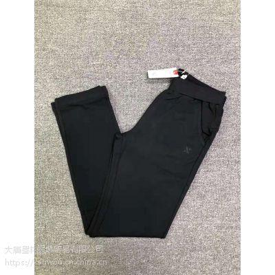 广州库存特步男女针织长裤三万件一手货源运动尾货批发