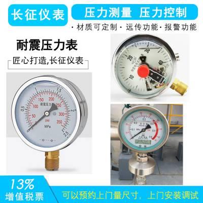 YN系列耐震压力表 防震压力表 抗震压力表
