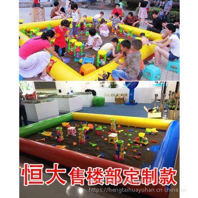 玩的广场玩具充气沙池 9平米的气模沙滩池多少钱 玩沙池子摆在哪里