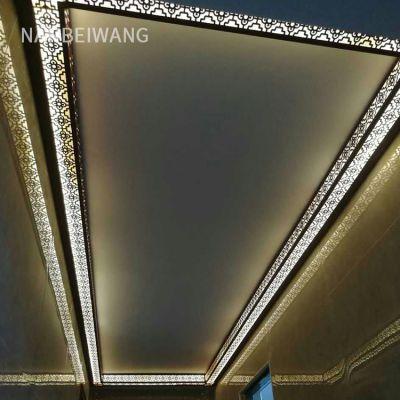 集成吊顶二级半铝梁半吊 配件 铝代石膏线 发光边角线 双面灯槽
