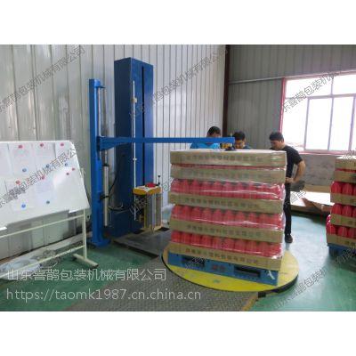 喜鹊自动压顶型缠绕包装机 安全平稳 使用方便