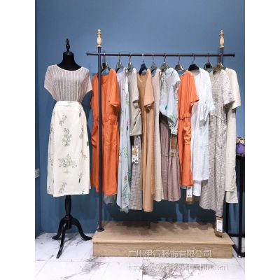 正品品牌淘宝直播棉麻服装货源麦中林女装折扣店哪里进好货