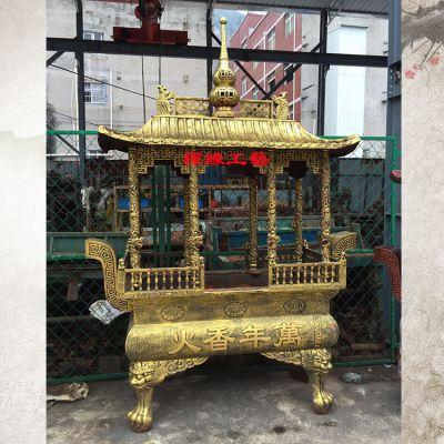 铸铁长方形八龙柱香炉 河北邢台佛寺高香香炉供应商
