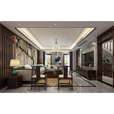 大学城金科天宸一街区别墅400㎡新中式风格装修设计方案意境图品鉴