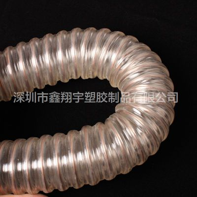 pu透明食品级钢丝软管,食品输送软管,卫生级软管