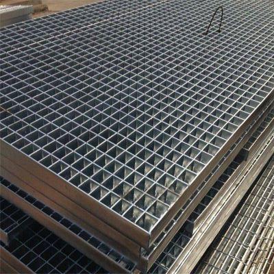自来水厂格栅板 钢网踏步板 排水盖板加工