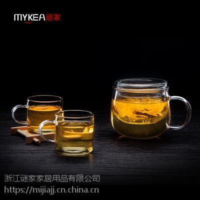 谜家/MYKEA 300ml高硼硅耐热玻璃小花茶杯BB1794