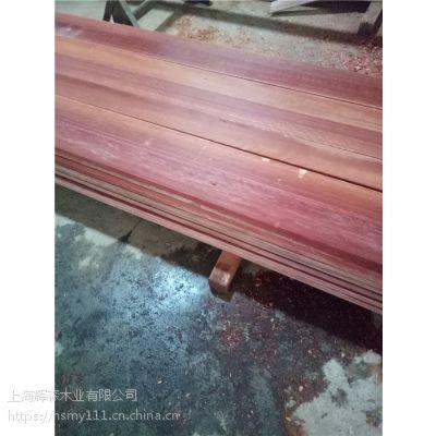 柳桉木防腐原木开料定做各种户外景观材