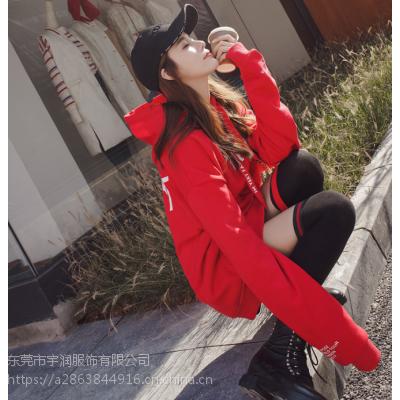 便宜服装批发摆摊热卖加绒卫衣清货韩版女装卫衣处理加厚卫衣清货宽松卫衣