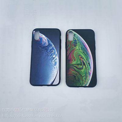 信拓福建苹果贴皮手机壳成品订制加工 个性定制水转印加工 福建水转印膜