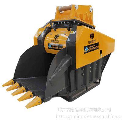 上海三一245进口挖机破碎斗厂家鄂破机价格岩石破碎斗