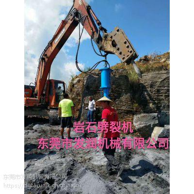 拆除拦路巨石绿色环保拆除专家—液压劈裂机设备