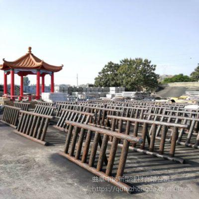 1.8米水泥仿木纹景观护栏价格/钢筋混凝土预制仿树皮栏杆价格