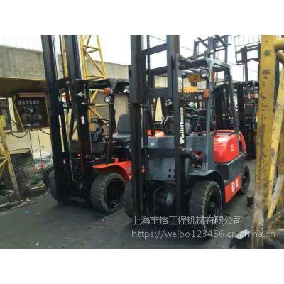 专业叉车,现出售3.5吨台励福柴油叉车原厂油漆,二手三门架叉车