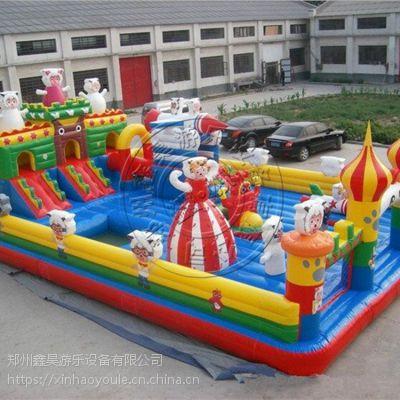 郑州鑫昊厂家直销儿童充气城堡蹦蹦床室内外小孩滑滑梯气垫床
