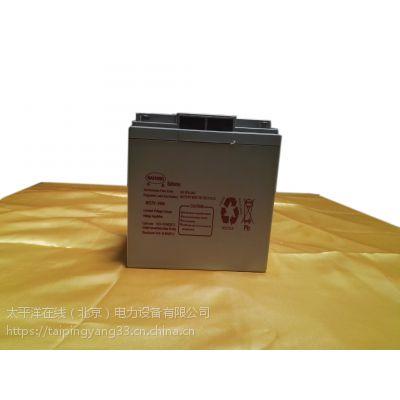 甘肃美国纳航12V-24AH铅酸免维护蓄电池封闭电池UPS专用蓄电池