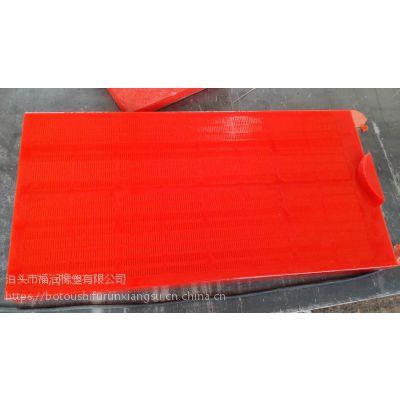 泊头福润 洗煤 选矿 洗沙 耐磨 振动筛 聚氨酯 浇注成型 连续条缝筛板