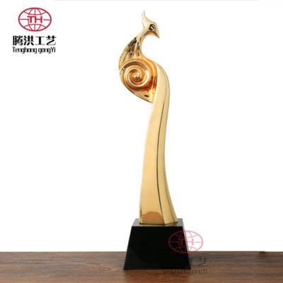 北京金色金属奖杯定制 树脂喷油金银铜色各种异形开模压制奖杯厂家