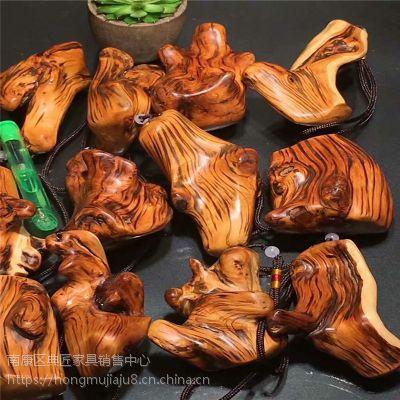 太行崖柏虎皮纹手把件 木质文玩手件 桌面小摆件爱车摆挂件