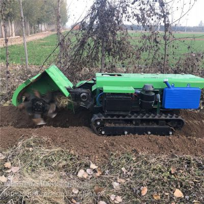 真实实惠便宜履带旋耕机 果园开施肥开沟机 多项农活一机履带机