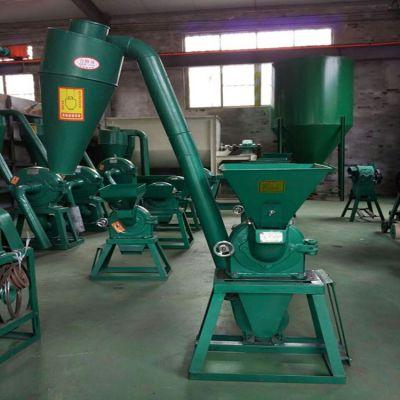 飞创立式自吸上料沙克龙除尘粮食磨面机 磨坊用打粉机
