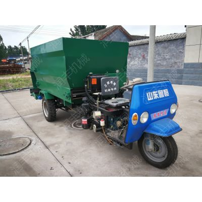 电动三轮喂草车 自动进料 撒料车 润丰生产销售撒料车