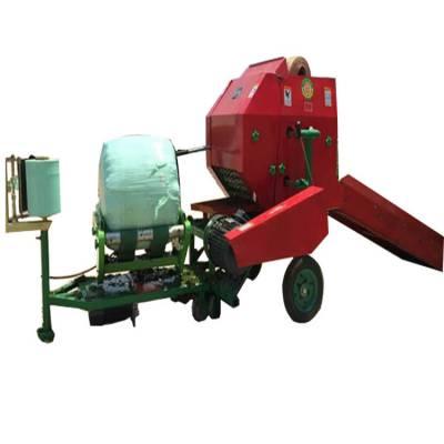牛场草料粉碎式打捆机 圆球形自动包膜机 全自动运行打捆包膜机