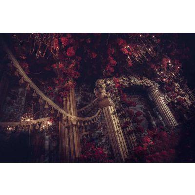 婚礼堂婚庆布置花艺装饰宫廷婚礼堂特色婚礼堂一站式婚礼堂金属背景舞台