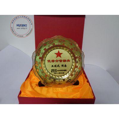 深圳供应专业定制金属奖盘/纪念盘 欢迎来图来样订购