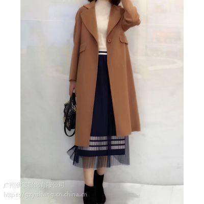 双面羊绒大衣女2018新款 我的前半生罗子君同款 马伊琍中长羊毛呢子外套