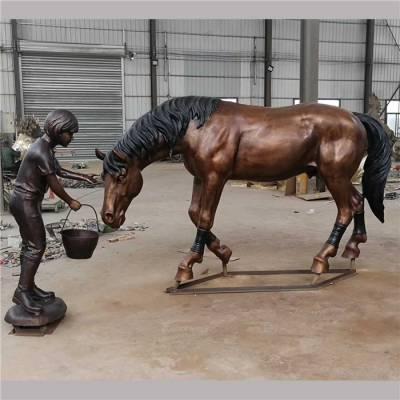 铜马 铸铁马雕塑-浙江铜马-雕塑厂家