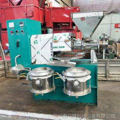 全自动花生榨油机 新型花生脱壳机 小型精炼油设备