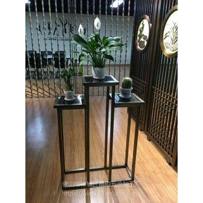 仿古古铜书架 置物架 摆件架 古典中式红古铜拉丝不锈钢博古架 花瓶古董展示架bxg160