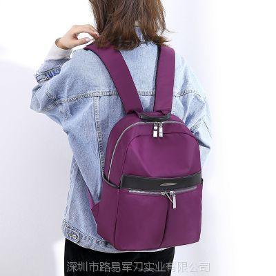 供应厂家批发双肩包女2018新款韩版百搭时尚女包商务背包电脑包牛津布尼龙包包