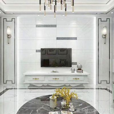 现代简约罗马柱电视背景墙镶嵌护墙 欧式客厅微晶石电视背景墙