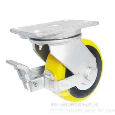 大世脚轮 实芯6寸pu轮 万向物流聚氨酯轮 重型工业脚轮