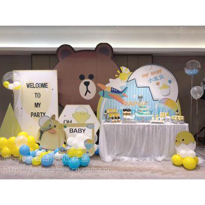 南宁儿童派对策划|生日布置|周岁宴气球布置抓周流程-新百合策划团队