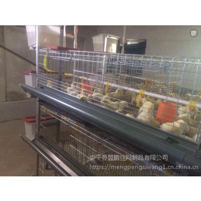 河北盟鹏鸡笼厂生产批发 层叠式三层热镀锌肉鸡笼 上料机 清粪机