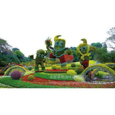 植物绿雕仿真花造型 猪年猪的雕塑造型厂家定制