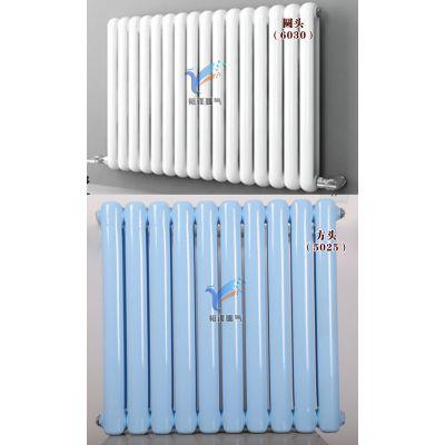 钢二柱暖气片双柱家用集中供暖低碳钢散热器暖气片
