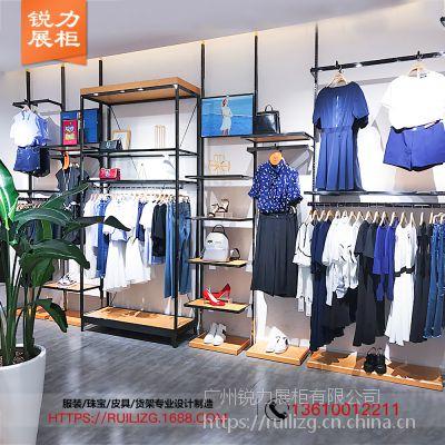服装店衣架展示架男女装货架落地式配柜子陈列架正侧挂定制