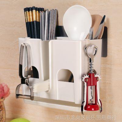 筷子盒带盖沥水防尘餐具收纳盒塑料家用厨房筷子筒筷架筷笼