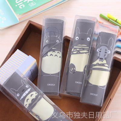 0571热卖韩版可爱龙猫卷卷PU学生笔袋 PVC精装文具袋